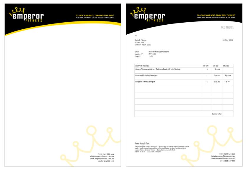 Letterhead & Invoice design