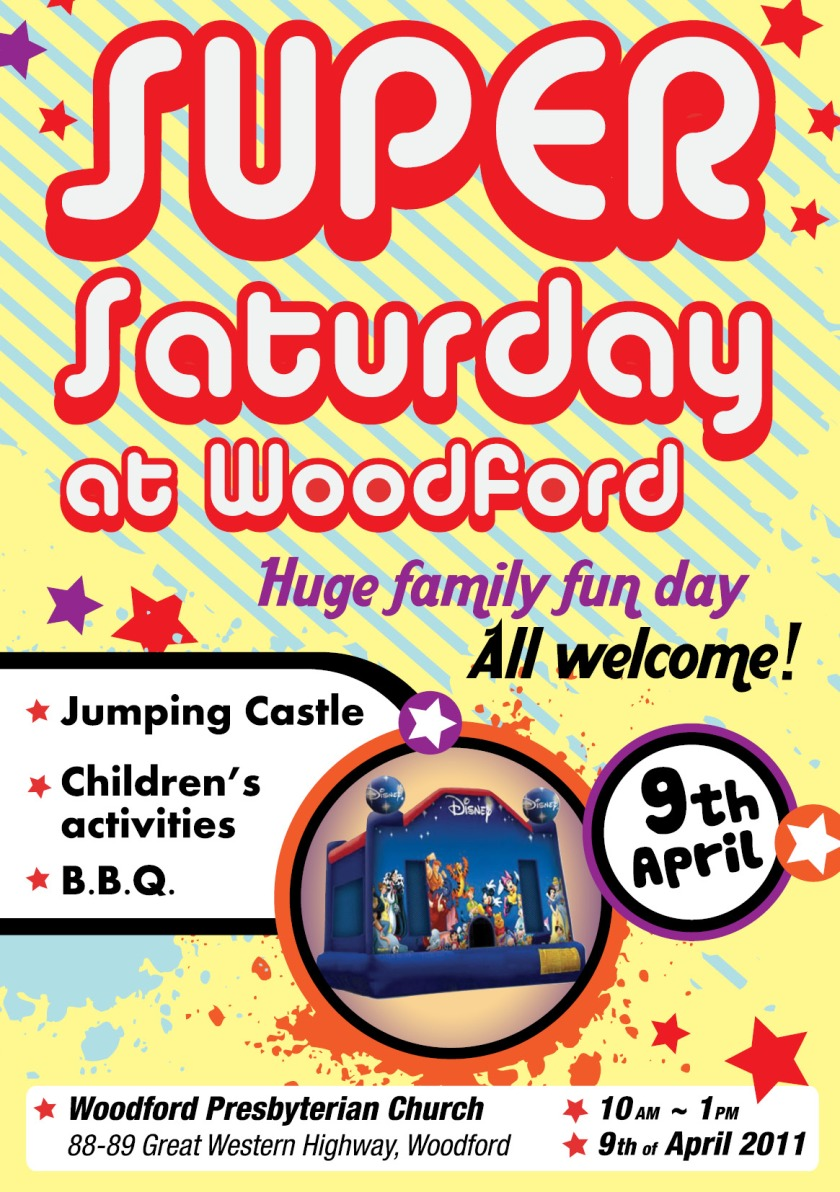 Flyer for Family Fun Day at Woodford Church